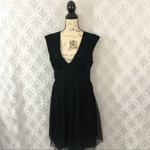 J. Crew Silk chiffon Abigail Little Black Dress